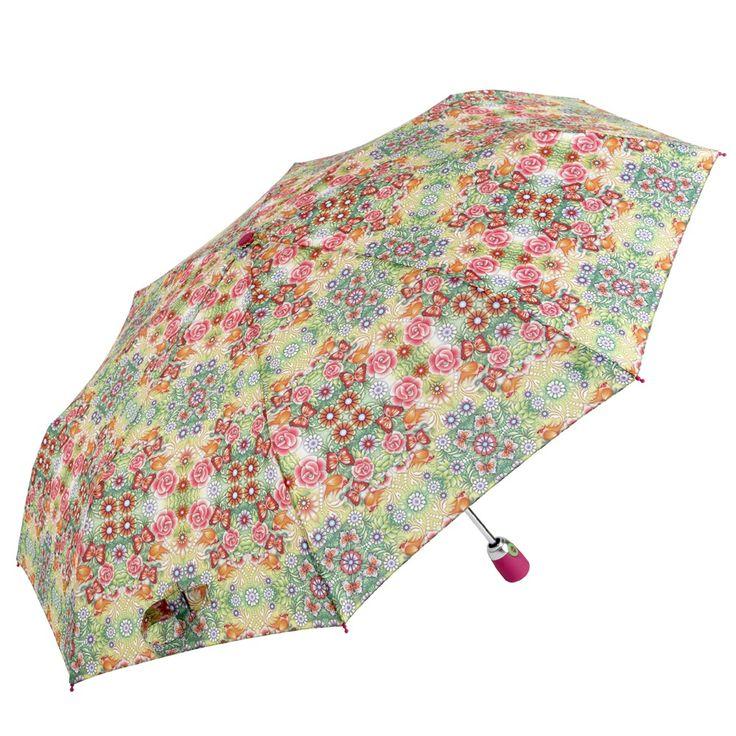 Catalina Estrada Secret Garden Umbrella full of colours to battle a grey day.