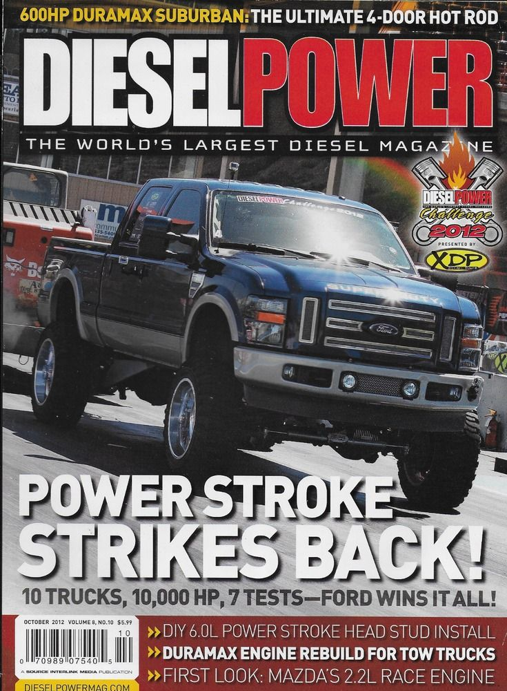 Diesel Power truck magazine Power Stroke Duramax Suburban Head Stud install