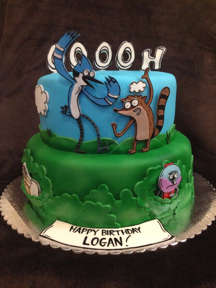 Free Cake! Free Cake!- Regular Show Cake I did