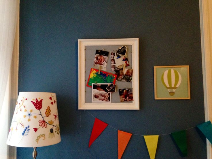 Diy nursery pin board- upcycling thrift store painting