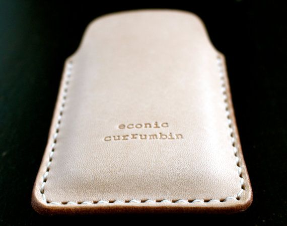 iPhone leather case/cover/sleeve handmade in by econiccurrumbin