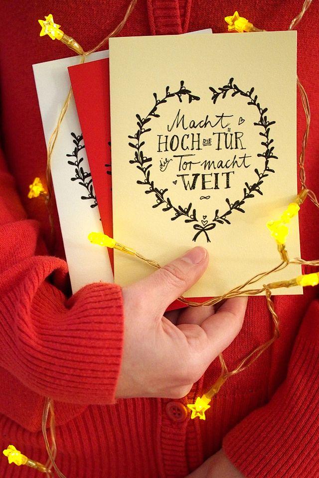 """Weihnachtskarten-Freebie zum Ausdrucken von """"Fee ist mein Name"""" // Christmas card free printable"""