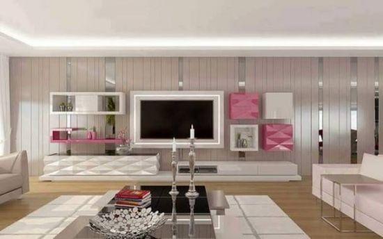 Amenajarea livingului cu tapet pentru insufletirea decorului