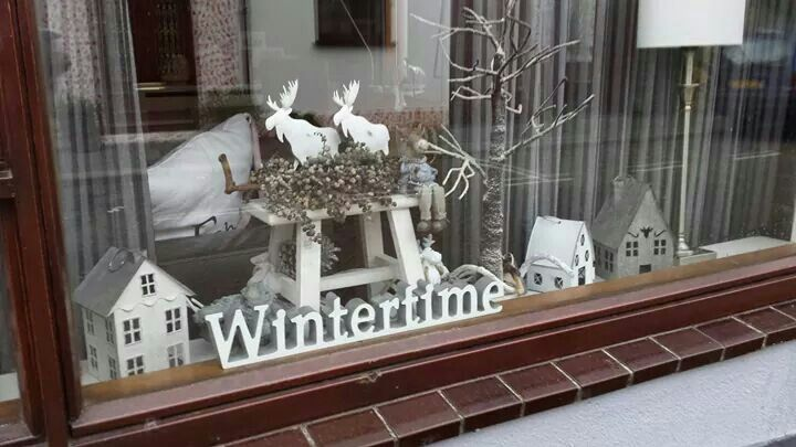 Winter vensterbank