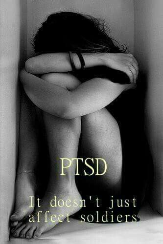 PTSD doesn't just affect soldiers. Could be due to domestic violence, rape, accidents, a traumatic death or several horrible traumatic experiences at once or over a long period of time .