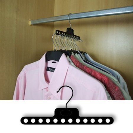 Pack of 6 SPACE SAVING WARDROBE COAT HANGERS CLOTHES GARMENT - Ingenious design…