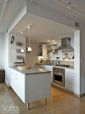 Best 10 open galley kitchen ideas on pinterest for Island in small galley kitchen