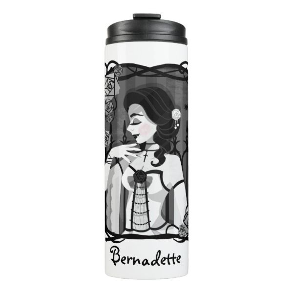 Gothic Victorian Vampire Portrait Thermal Tumbler #halloween #holiday #drinkware #party #cups