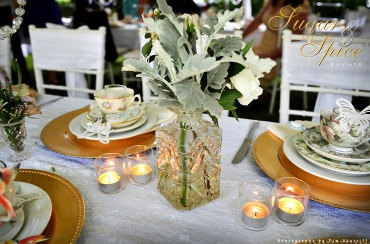 Garden Party | Beautiful Table Décor | Evergreen Garden Venue| Flowers by White Ivy Design