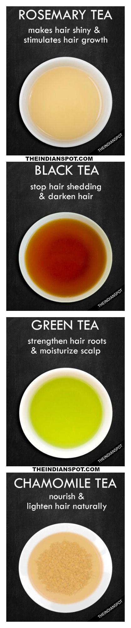 How tea can help your hair shine