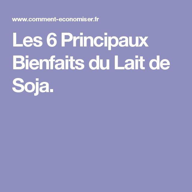 Les 6 Principaux Bienfaits du Lait de Soja.