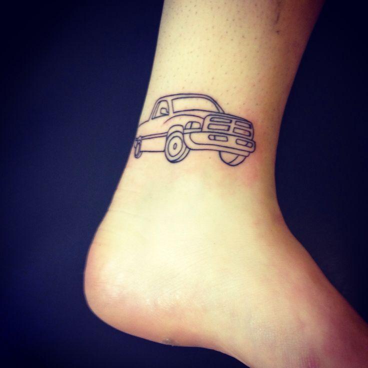 Dodge truck #tattoo #truck. Want a real food truck? visit www.PrestigeFoodTrucks.com