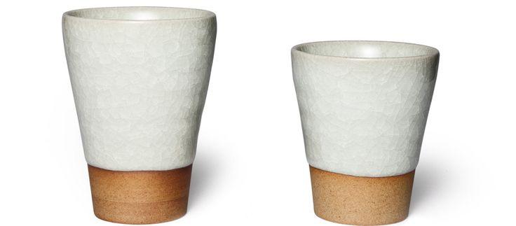 Japanese Ceramic Crackle Glaze Tea Cups (Grey)