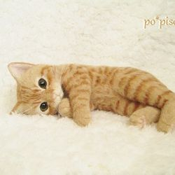 Needle felted orange tabby by Po Pisolino