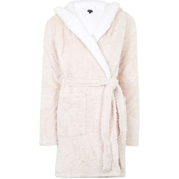 Topshop Teddy Robe 48 Liked On Polyvore Featuring Intimates Robes Pale