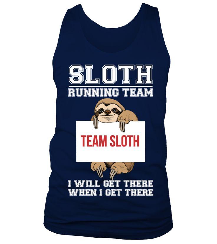 Sloth Running Team  Funny Running T-shirt, Best Running T-shirt