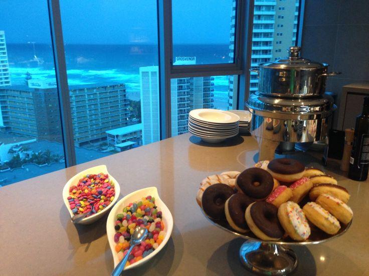 Executive Lounge at the Hilton Surfers Paradise Hotel and Residences on the Gold Coast, Australia