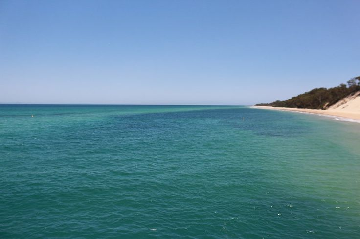 Absolutely stunning Moreton Island. Tangalooma Wrecks were just behind us in this photo.
