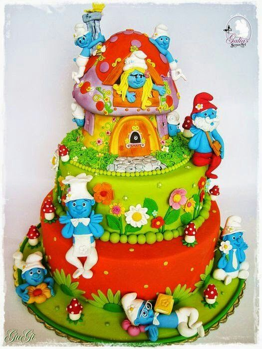 Smurfs cake!