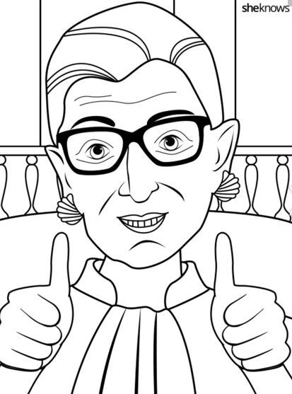 Adult coloring books are all the rage these days and now grown-up feminists have a reason to double rejoice: liberal Supreme Court Justice Ruth Bader Ginsburg is riding on a unicorn and fighting for women's rights in her very own printable coloring book.