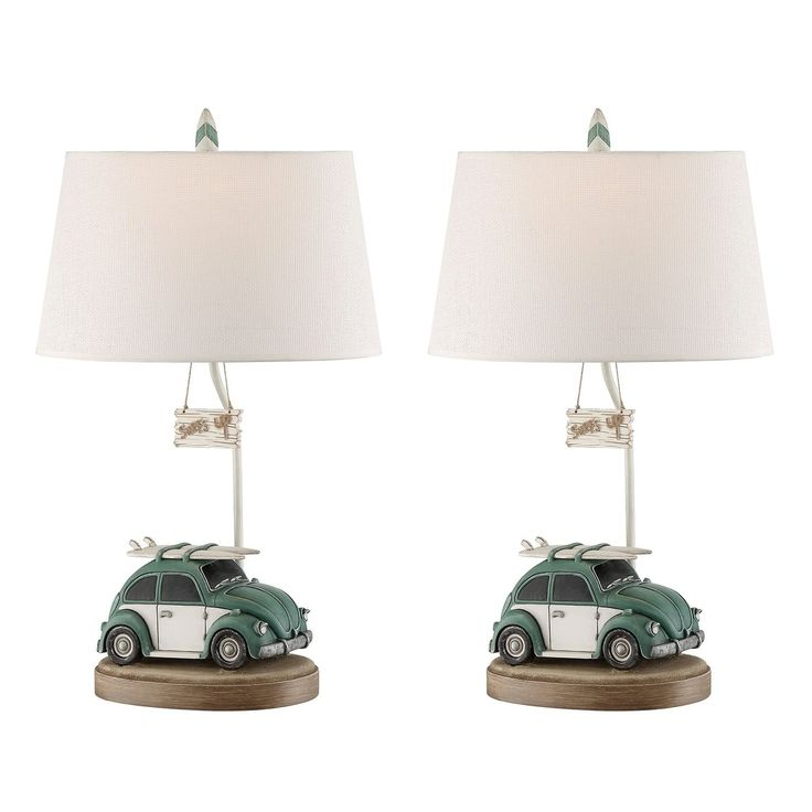 Seahaven Lets Go Surfing Table Lamp 29 high, Brown (Resin)