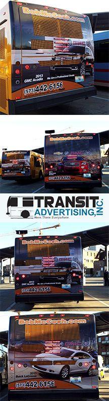 Our back of bus advertisements for Bob McCosh Chevrolet in Missouri.   Learn more about how your business can benefit from transit advertising at: www.transitadvertisinginc.com  #transitads #busads #advertisements #advertising #misssouri