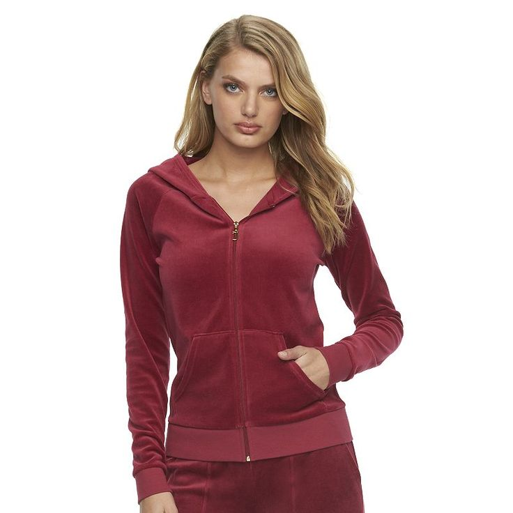 Women's Juicy Couture Velour Hoodie Jacket, Size: