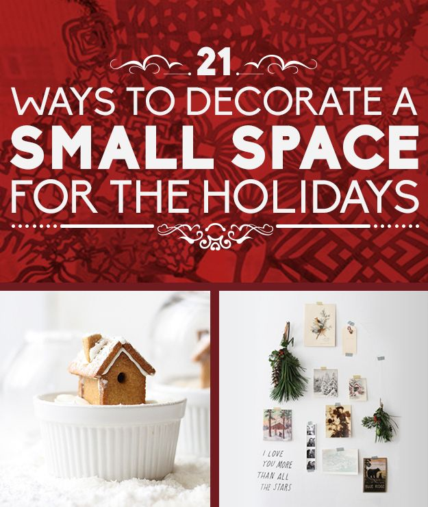 21 Ways To Decorate A Small Space For The Holidays (via BuzzFeed)