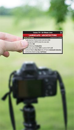 Canon T5 Landscape Photography Cheat Sheet