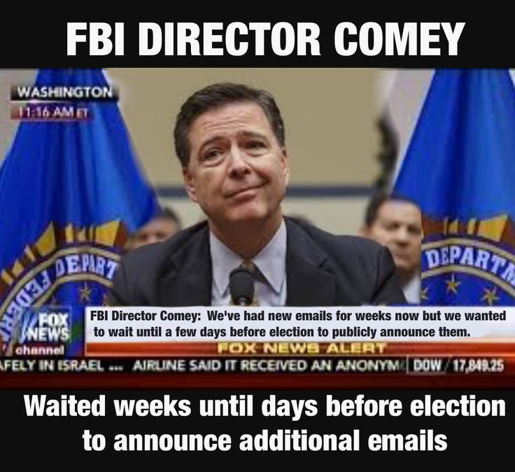Republican FBI Director seems to really need a review of what it means to be non partisan. Publicly announcing the emails before ever reviewing them. Then to top it off waiting until the last minute to start to reviewing them to insure a level of suspicion would exist through Election Day.