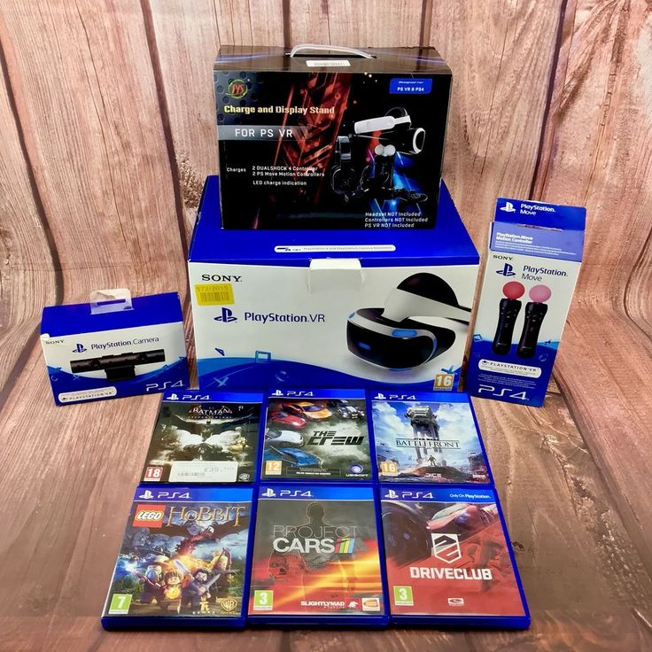 Ps Vr Bundle Motion Controllers Camera PlayStation Vr 6 Games all in Boxes PS4