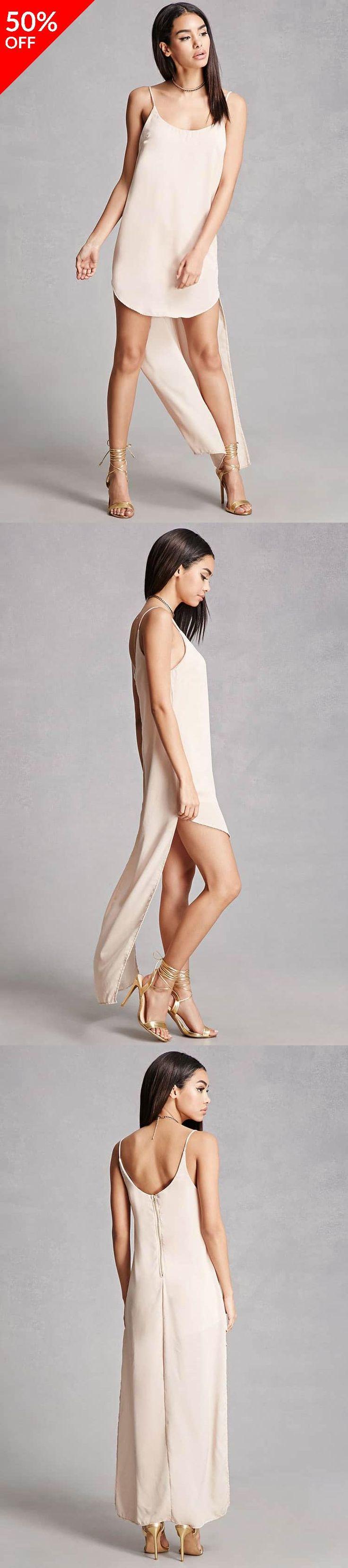 High-Low Satin Slip Dress // 24.00 USD // Forever 21