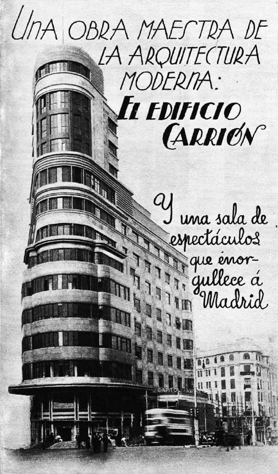 Edificio Carrion - Madrid años 1930.