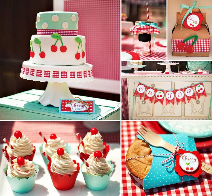 """So many happy details to PICK from in this darling """"Cherry on Top"""" party"""