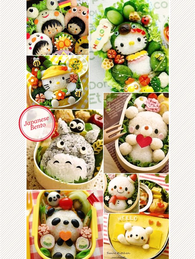 Japanese bento lunch box inspiration on Maiko Nagao blog