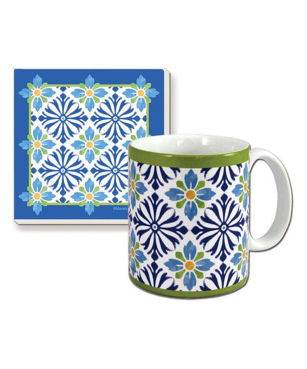 Look at this Mediterranean Mug & Coaster Gift Set on #zulily today!