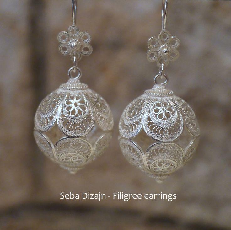 Some large & fabulous filigree bead earrings, handmade here in Korcula by Seba Dizajn.