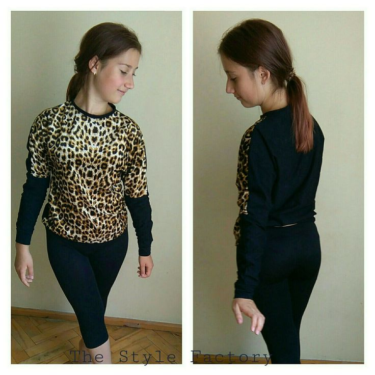 Leopard blouse with the addition of black fabric // thestylefactory.pl //