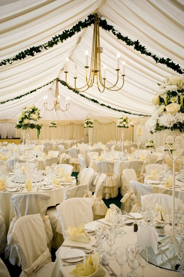22 best images about rustic wedding marquee hanging for Indoor marquee decoration
