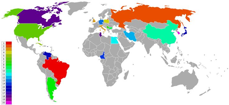 World Rankings - Volleyball, Men