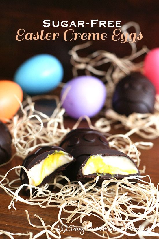 Copycat Easter Cream Eggs - Low Carb and Gluten Free