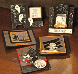 stampin up check out my halloween fun fold cards - Stampin Up Halloween Ideas