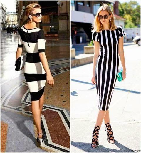 Fashion Designer  By Sema Irmak: Çizgili   Siyah & Beyaz....Elbiseler   sade   ve  ...