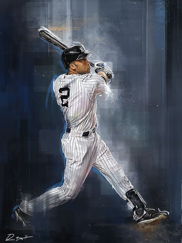 Derek Jeter - An Illustrated Tribute by Robert Bruno, via Behance