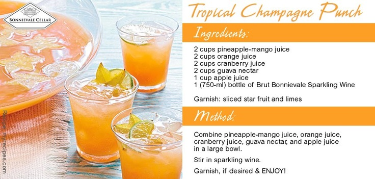 Here's a deliciously easy punch to make for those hot summer afternoons!
