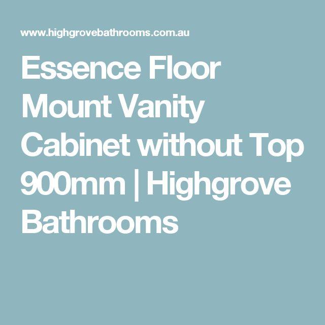 Essence Floor Mount Vanity Cabinet without Top 900mm | Highgrove Bathrooms