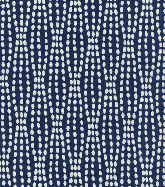 Upholstery Fabric-Waverly Strands Navy. Considering for dining room and library/music room curtains.