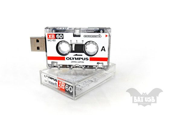 BAT™ USB 8GB - Mini journalist Olympus analog recorder tape - Analog - Interview cassette - Cassette case - Offer with Extension Angle Cable by Think4HandmadeArt