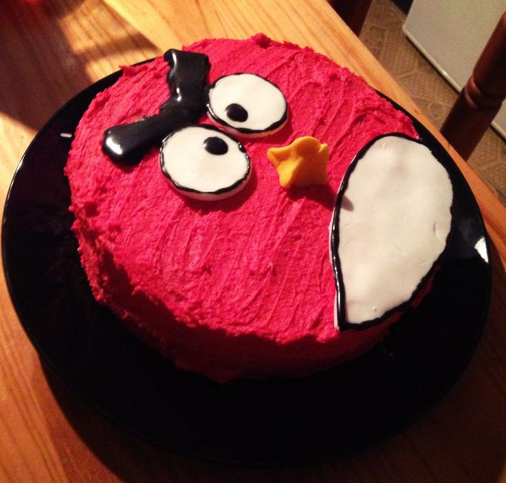 Angry birds cake I baked.