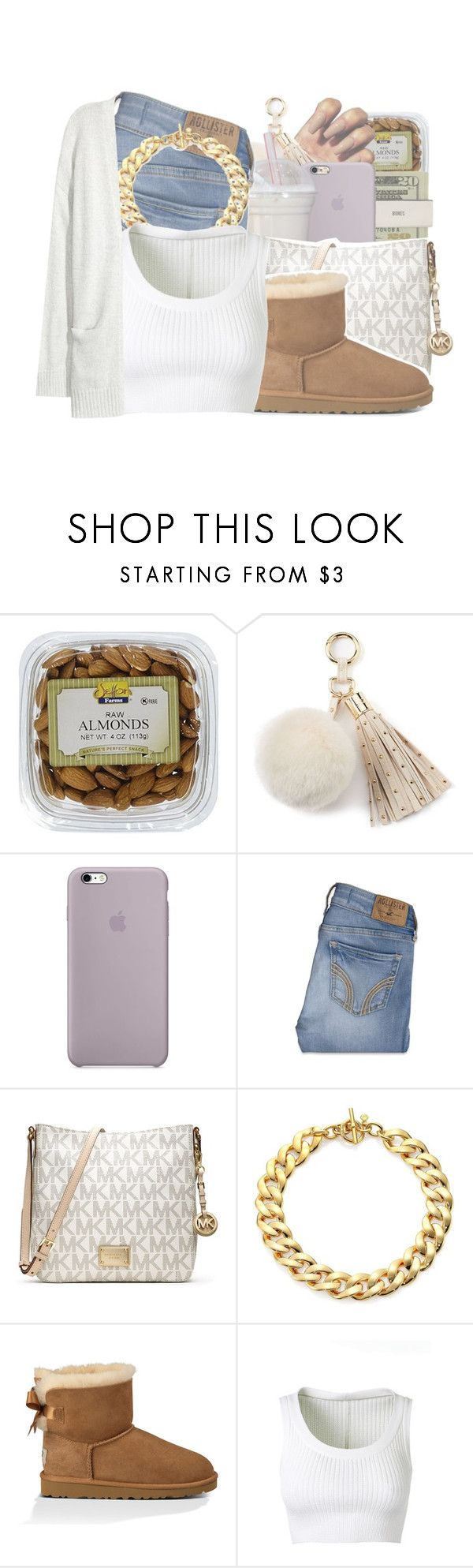 """""""He better act right around me ."""" by royaltyvoka ❤ liked on Polyvore featuring Juicy Couture, Jack Spade, Hollister Co., MICHAEL Michael Kors, Michael Kors, UGG Australia, Alaïa and Kofta"""